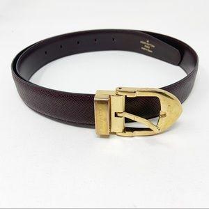 Vintage Louis Vuitton Leather Belt